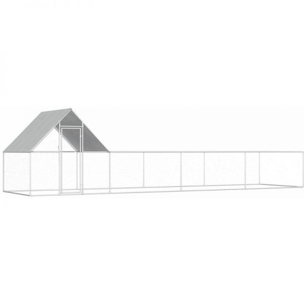 Youthup - Chicken Coop 8x2x2 m Galvanised Steel