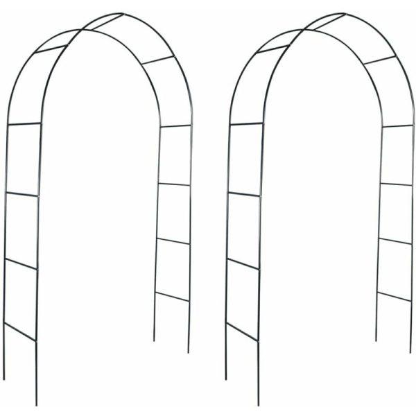 Zqyrlar - Garden Arch 2 pcs Climbing Plants - Green