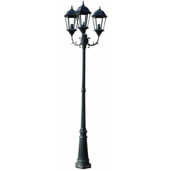Zqyrlar - Garden Light Post 3-arms 230 cm Dark Green/Black Aluminium - Green