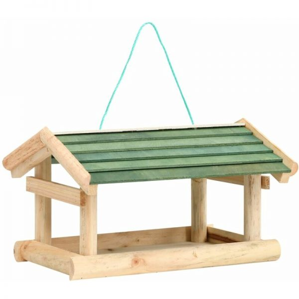 vidaXL Bird Feeder Solid Wood 35x29.5x21 cm - Brown