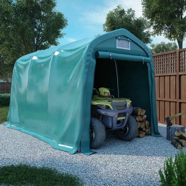 vidaXL Garage Tent PVC 2.4x3.6 m Green - Green