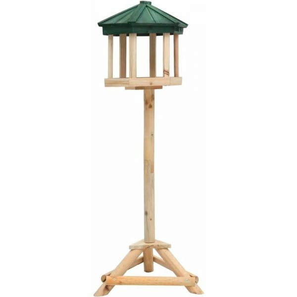 vidaXL Standing Bird Feeder Solid Firwood 33x106 cm - Brown