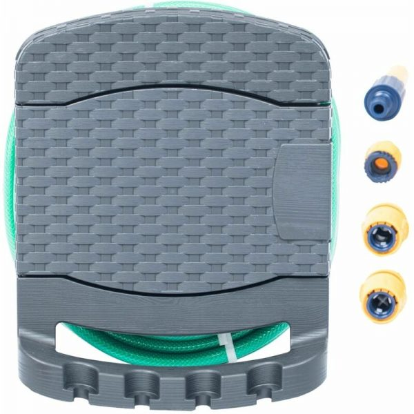 vidaXL Wall Mounted Hose Reel with Hose Plastic Anthracite - Anthracite