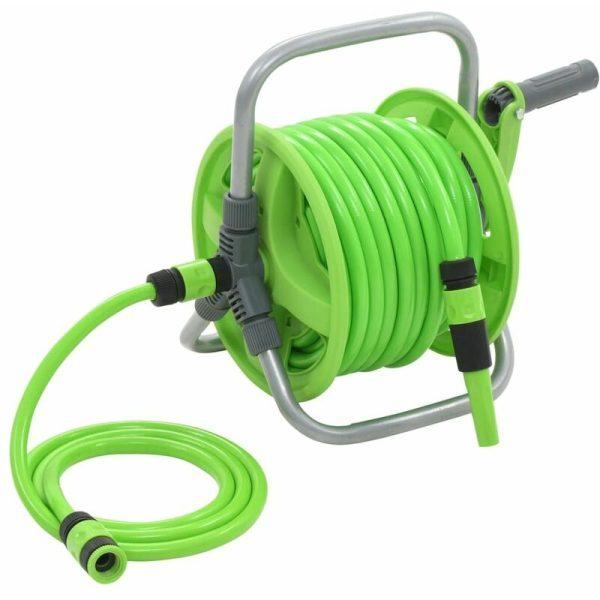 vidaXL Water Hose Reel 20+2 m - Green