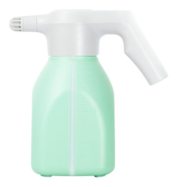 1.5L gardening electric watering can, handheld household flower watering device, rechargeable sprayer, light green