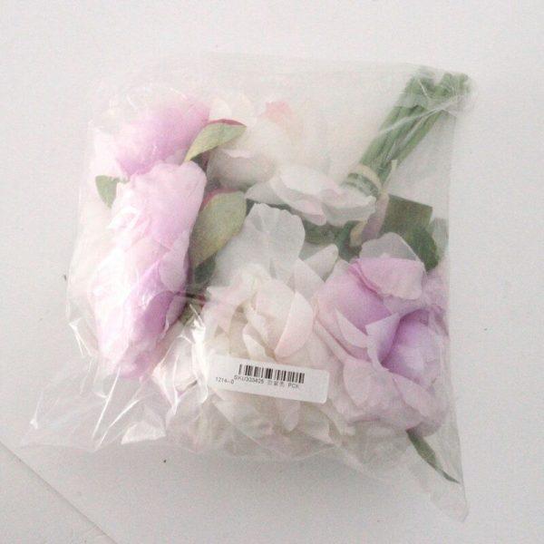 10 Heads European Style Office Garden Home Decor Hotel Peony Decorative Silk Artificial Wedding Party Flowers (Purple)
