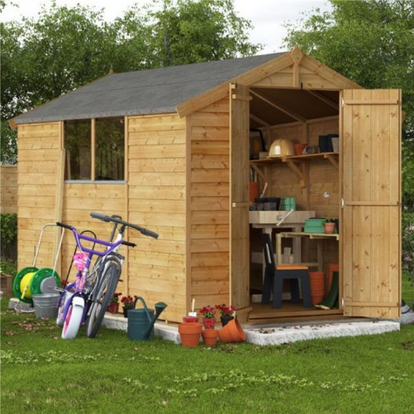10x6 Keeper Overlap Apex Wooden Shed - Windowed BillyOh