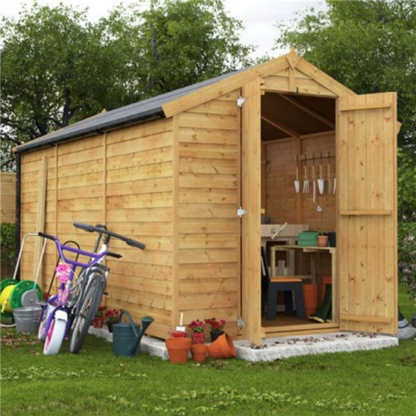 10x6 Keeper Overlap Apex Wooden Shed - Windowless BillyOh