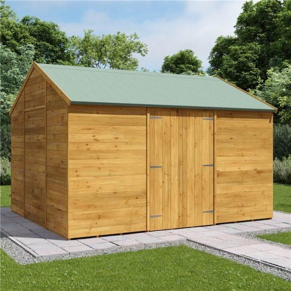 12 x 10 Shed - BillyOh Expert Reverse Workshop Garden Shed - Windowless