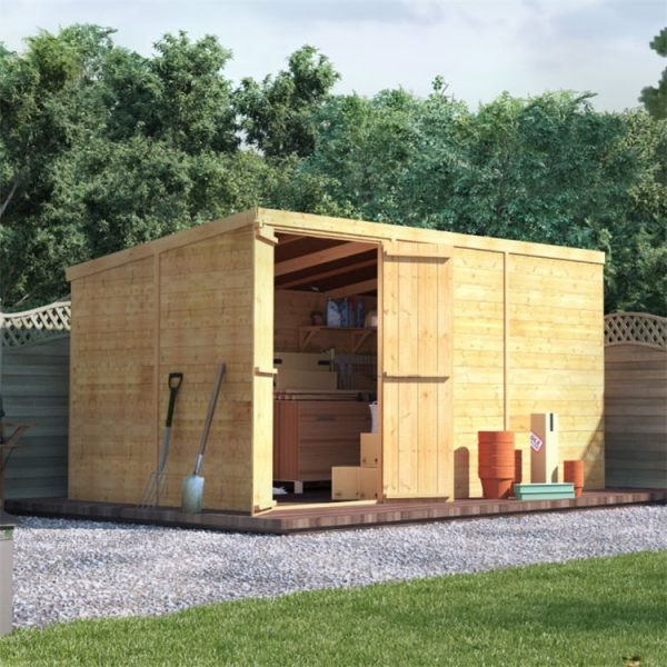 12 x 6 Shed - BillyOh Master Tongue and Groove Pent Shed - Windowless 12x6 Wooden Garden Shed