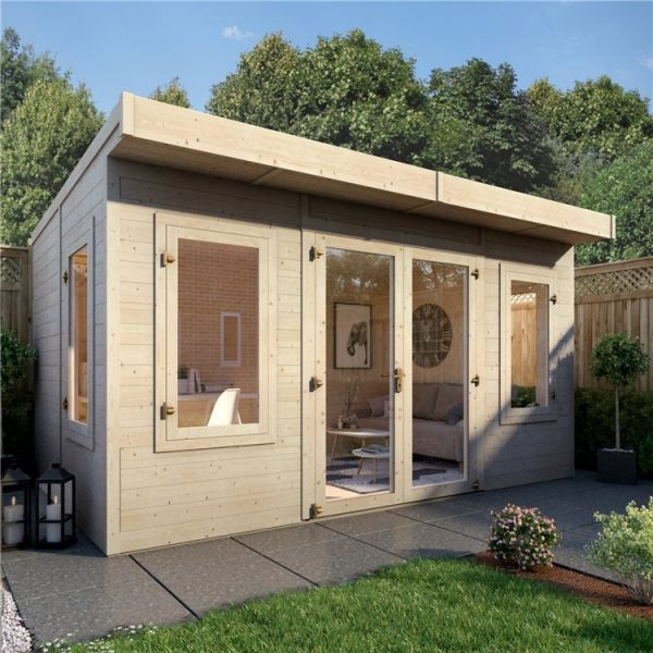14ft x 8ft BillyOh Outpost Insulated Building - Wooden Garden Office Building With Insulation