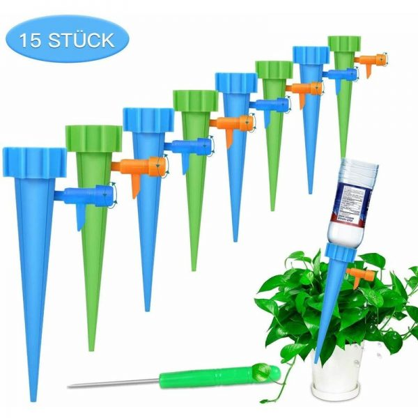 15-Piece Automatic Watering Kit Faultless Easy Irrigation System for Watering Garden Plants Flowers Indoor Potting Soil