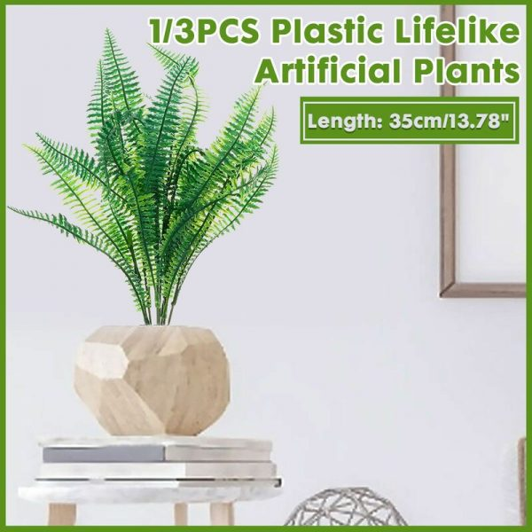 1PCS / 3PCS European Garden Symplify Style Artificial emulation Asparagus Fern Bush Foliage Green Leaves Wedding Living Room Office Decor (Only
