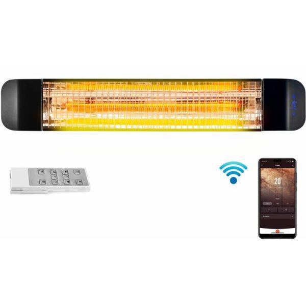 2.4kW Wi-Fi Patio Radiant Heater ( No Plug - Installed Product ) - DVPH24BEP - Devola