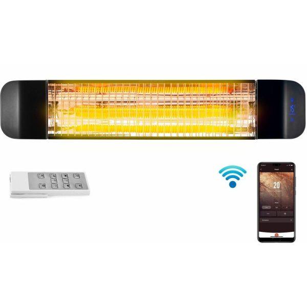 2kW Wi-Fi Patio Radiant Heater ( No Plug - Installed Product ) - DVPH20BEP - Devola