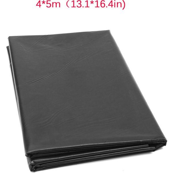 4x5m Fish Pond Liner PVC Membrane Reinforced Waterproof Landscaping Durable Garden Pool Tool Black
