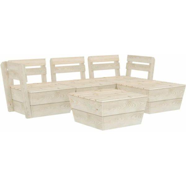 5 Piece Garden Pallet Lounge Set Impregnated Spruce Wood - Vidaxl