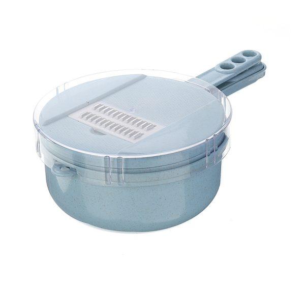 9 In 1 Multi-function Easy Food Chopper Spiralizer Cutter Shredder Kitchen Dicer blue