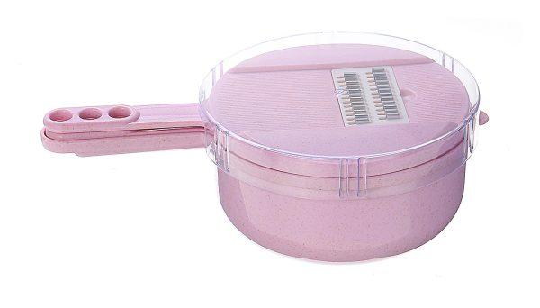 9 In 1 Multi-function Easy Food Chopper Spiralizer Cutter Shredder Kitchen Dicer pink