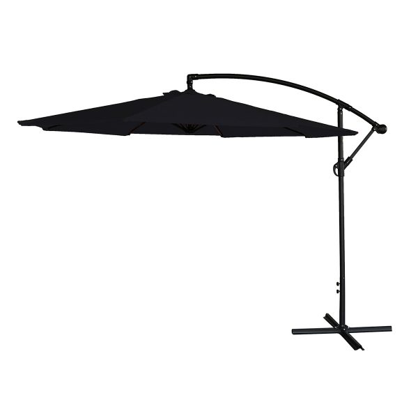 Airwave 3m Banana Hanging Parasol (base not included) - Black