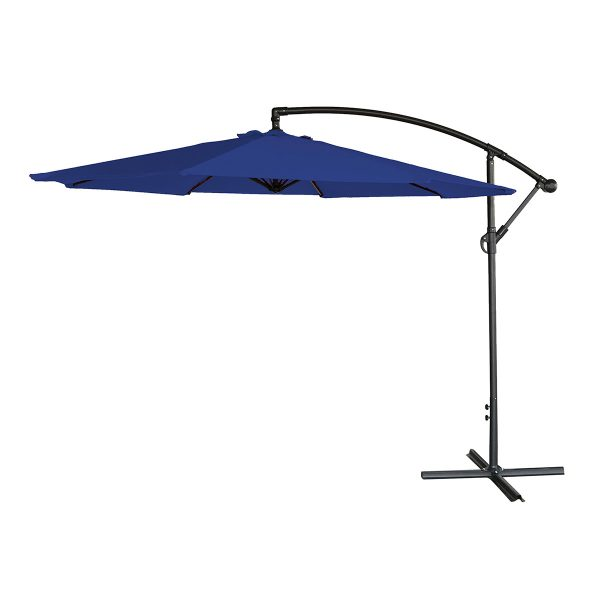 Airwave 3m Banana Hanging Parasol (base not included) - Blue