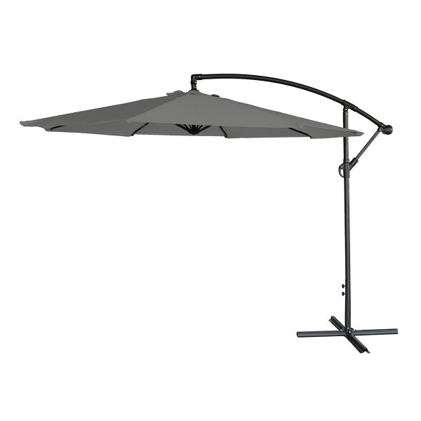 Airwave 3m Banana Hanging Parasol (base not included) - Grey