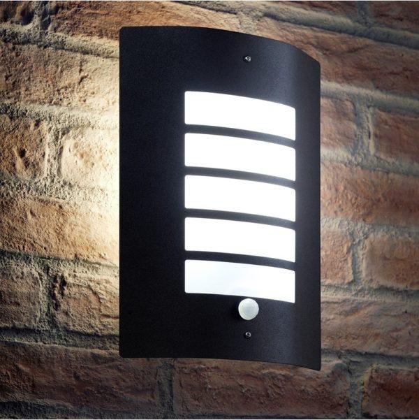 Auraglow Dusk Till Dawn Photocell Daylight Sensor Switch Outdoor Wall Light, Cool White - Black