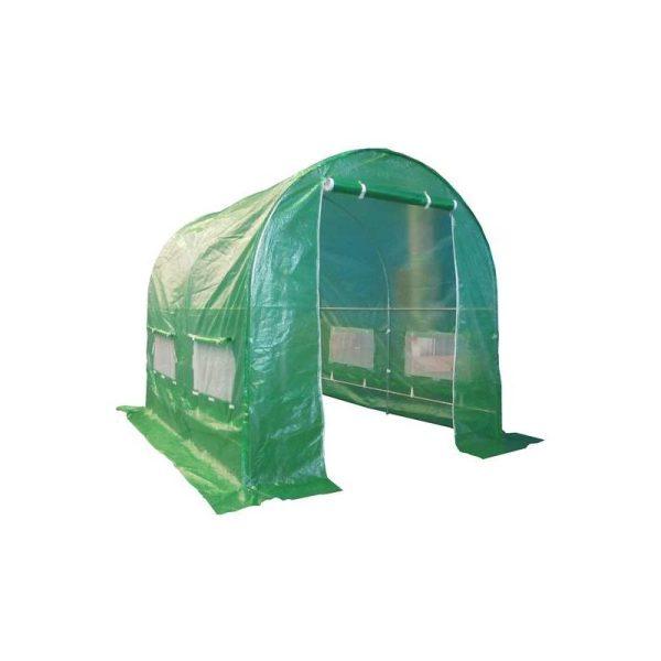 BIRCHTREE 2.5M (L) x 2M (W) x 2M (H) Polytunnel Greenhouse Pollytunnel Galvanised Frame