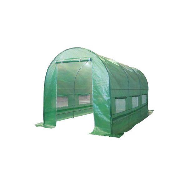 BIRCHTREE 4M (L) x 2M (W) x 2M (H) Polytunnel Greenhouse Pollytunnel Galvanised Frame