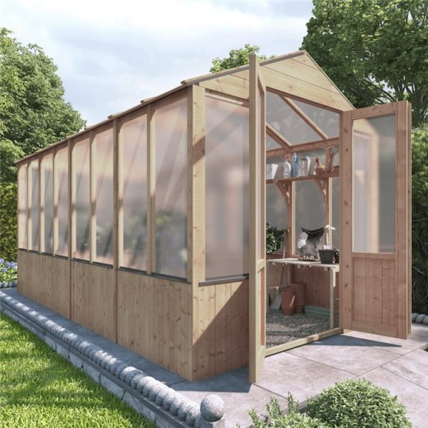 BillyOh 4000 Lincoln Wooden Polycarbonate Greenhouse - PT-12 x 6 Lincoln Wooden Greenhouse