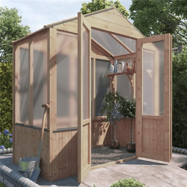BillyOh 4000 Lincoln Wooden Polycarbonate Greenhouse - PT-3 x 6 Lincoln Wooden Greenhouse