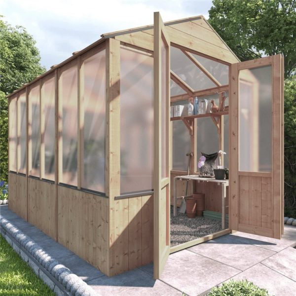 BillyOh 4000 Lincoln Wooden Polycarbonate Greenhouse - PT-9 x 6 Lincoln Wooden Greenhouse