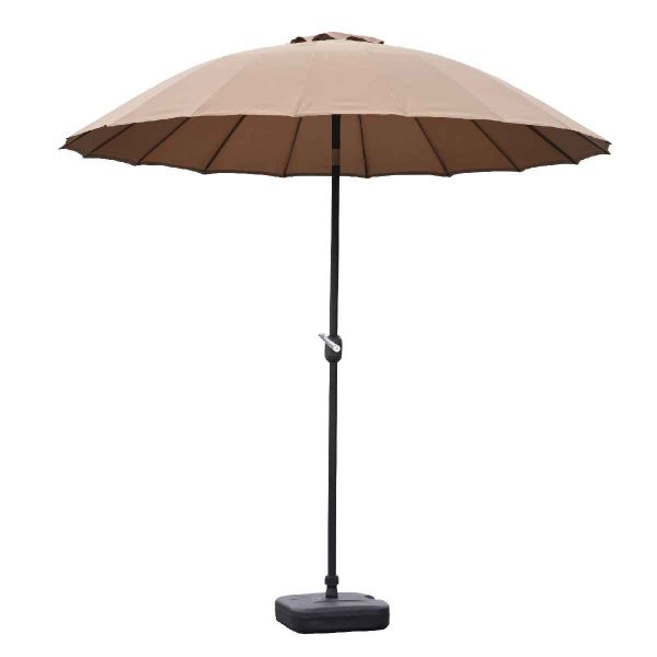 Garden Must Haves Blossom 2.5m Oriental Parasol (base not included) - Taupe