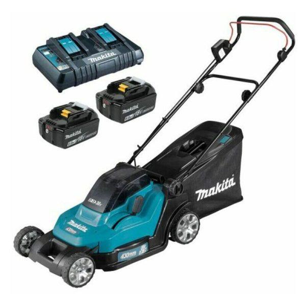 Makita DLM432PG2 Twin 18v / 36v LXT Cordless Lawnmower 2 x 6Ah Batteries & Charger