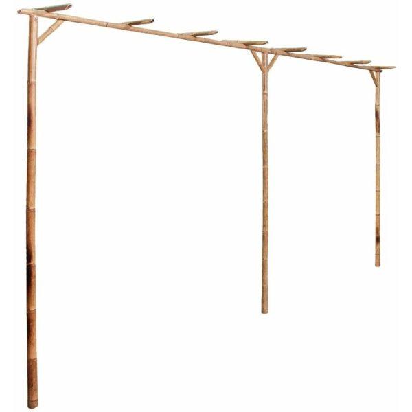 Pergola Bamboo 385x40x205 cm - Brown - Vidaxl