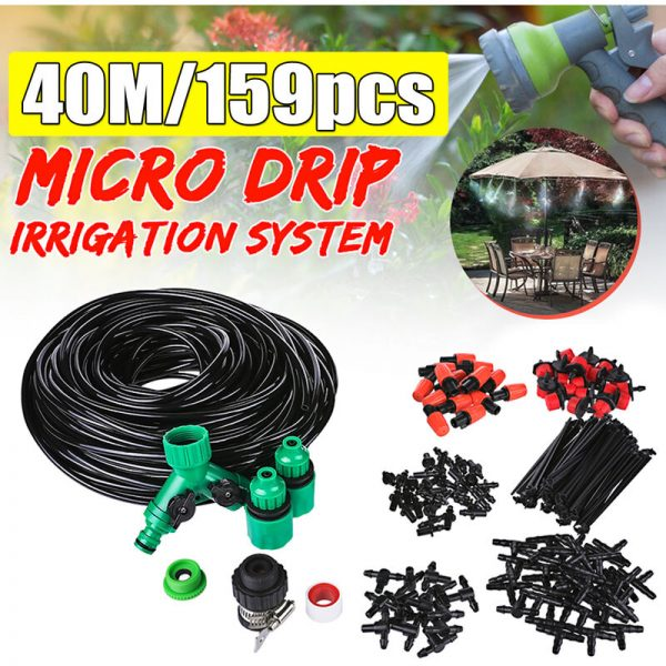 Plant Watering Mist 40M Garden Automatic Micro Drip Irrigation System Kit