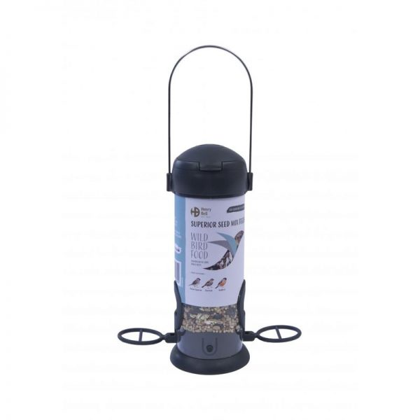 Ready To Feed Filled Superior Seed Mix Bird Feeder (One Size) (Grey) - Henry Bell