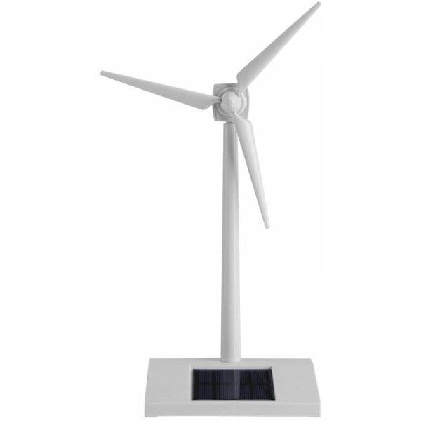 Solar Powered Wind Turbine Toy, Solar Powered Windmill Kids Toy, Miniature Model Solar Powered Kids Wind Turbine Home Garden Office Decoration