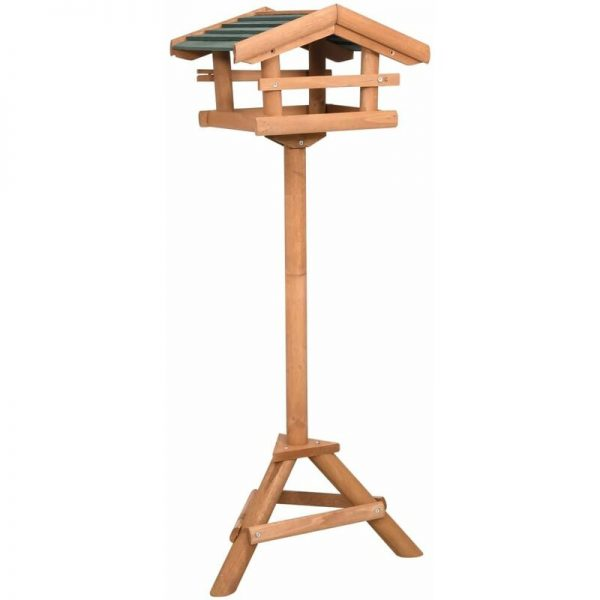 vidaXL Bird Feeder with Stand Firwood