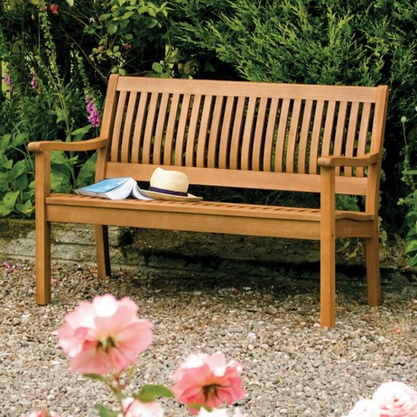 1.2m FSC® Hardwood Willington Garden Bench by Rowlinson®