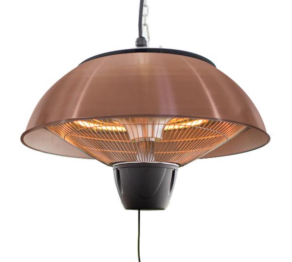1.5kW IP34 Infrared Hanging Patio Heater in Copper by Heatlab®