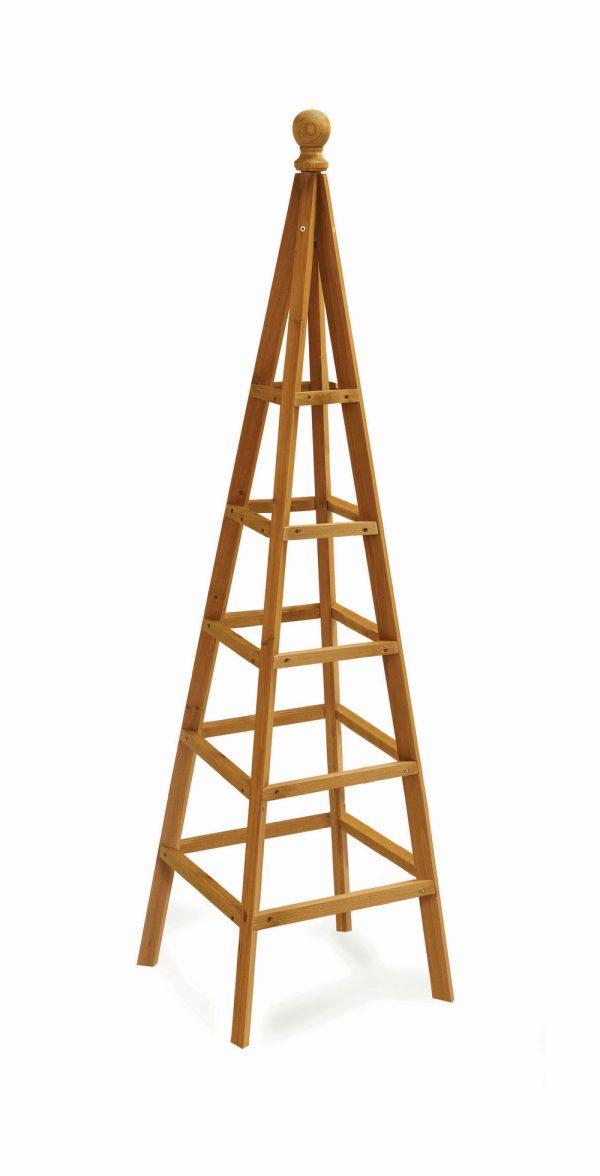 1.5m Wooden Obelisk in Tan - by Smart Garden