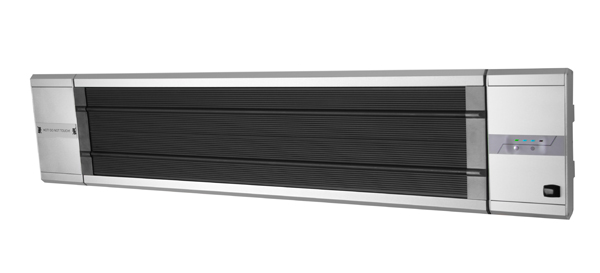 1.8kW IP55 Electric Patio Heater 'Black Heat' with Remote Control 2 Heat Settings by Heatlab®