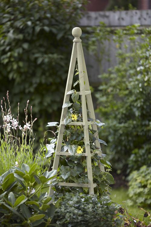 1.9m Wooden Obelisk in Sage - by Smart Garden
