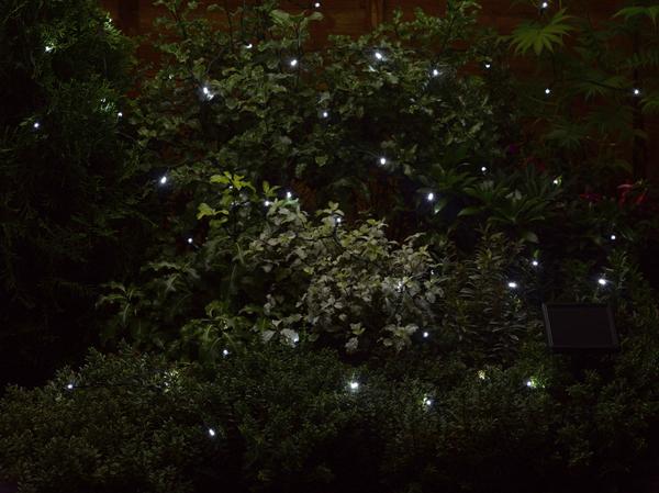100 (11.9m) Solar Powered White String Garden Lights by Smart Solar