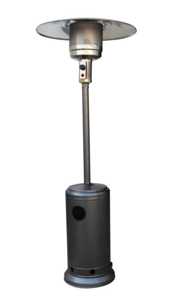 12kW Freestanding Powder Coated Steel Silver Gas Patio Heater by Heatlab®