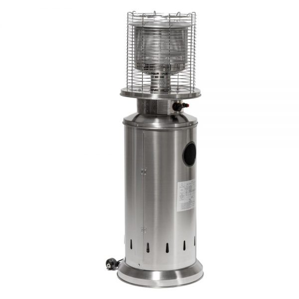 13kW Bullet Gas Patio Heater Stainless Steel by Heatlab®