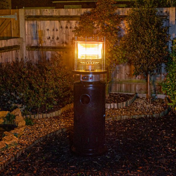 13kW Bullet Gas Patio Heater in Black by Heatlab®