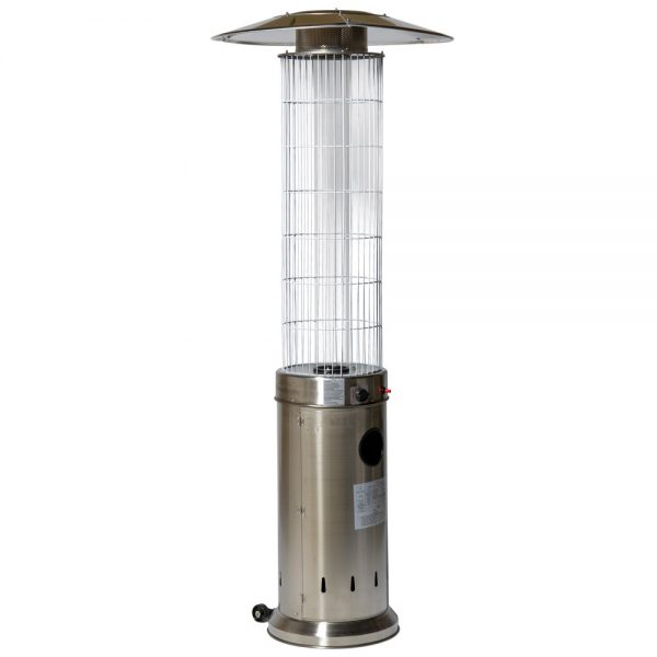 13kW Circle Flame Gas Patio Heater Stainless Steel by Heatlab®