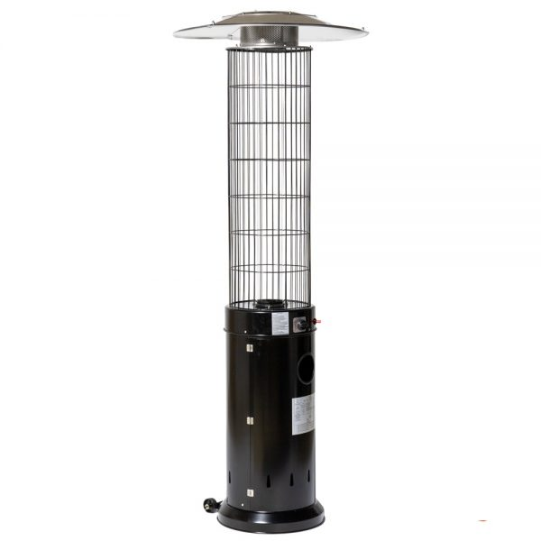 13kW Circle Flame Gas Patio Heater in Black by Heatlab®